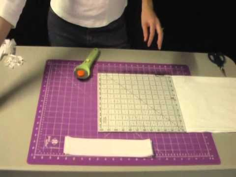 How to Cut Fabric with a Rotary Cutter - YouTube.  Leah Day.  Cutting strips & squares accurately.