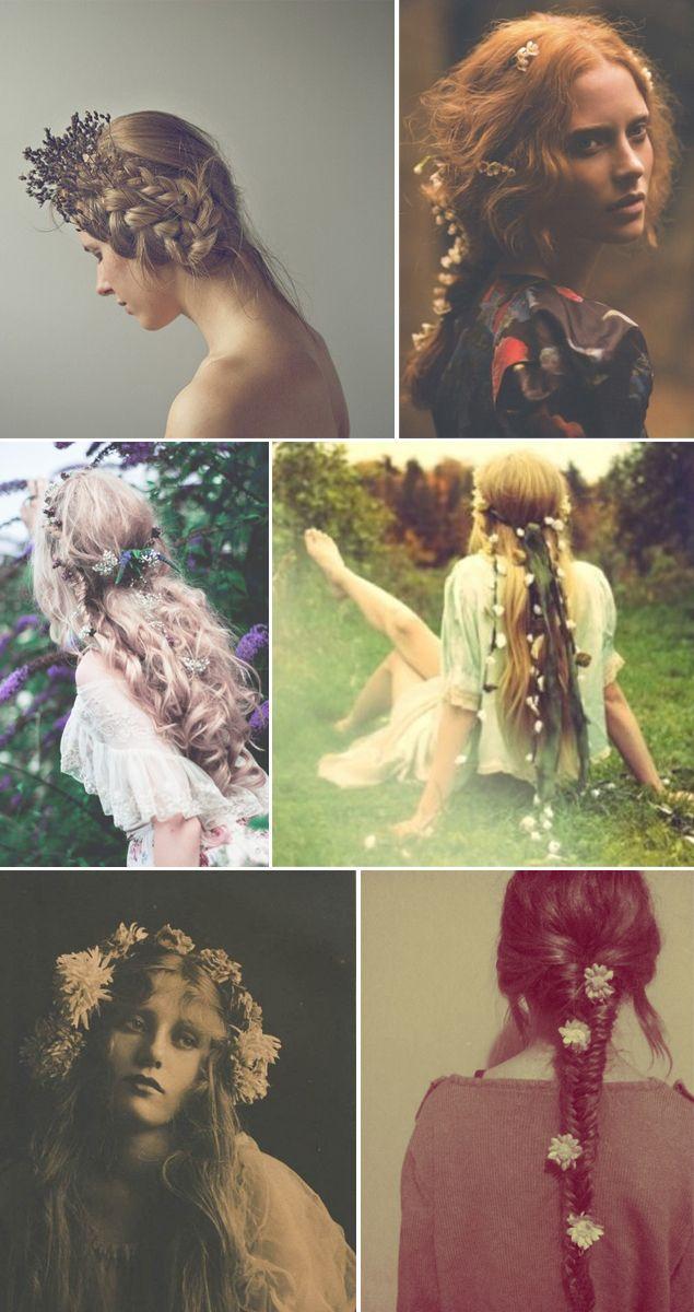 Trendy Wedding, blog idées et inspirations mariage ♥ French Wedding Blog: {Coiffure de la mariée} des fleurs dans les cheveux