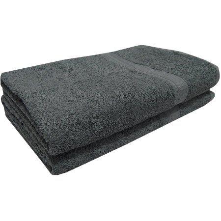 Mainstays Basic 2-Piece Bath Sheet Set, Gray