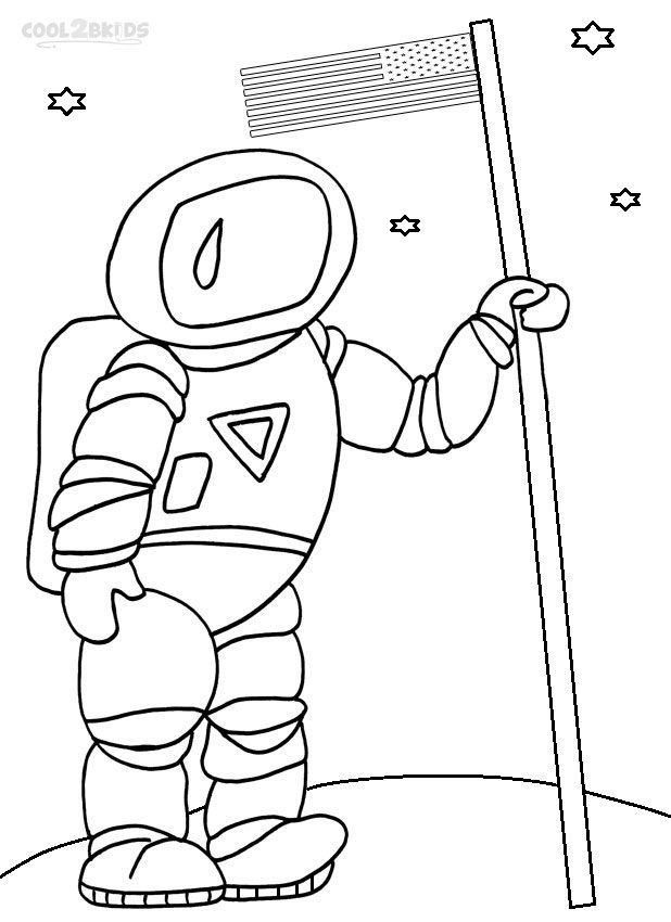 childrens coloring pages of space - photo#17