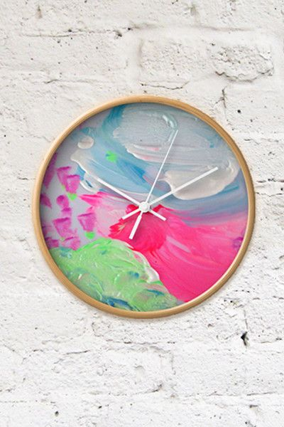 Custom art clock by charlie and Rosie. Artwork by Gracie 2 yrs (not available for resale) but you can make something equally as beautiful using your own childs artwork