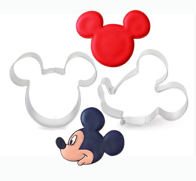 Barato Mickey Mouse Minnie Mouse cortador, Cortador de biscoitos molde, Cortador de bolachas cozinhar ferramentas 2 pçs/lote frete grátis, Compro Qualidade Cortadores de Biscoito diretamente de fornecedores da China:          Especificação do produto:                 Nome: Mickey & Minnie                 Tamanho        : Mick