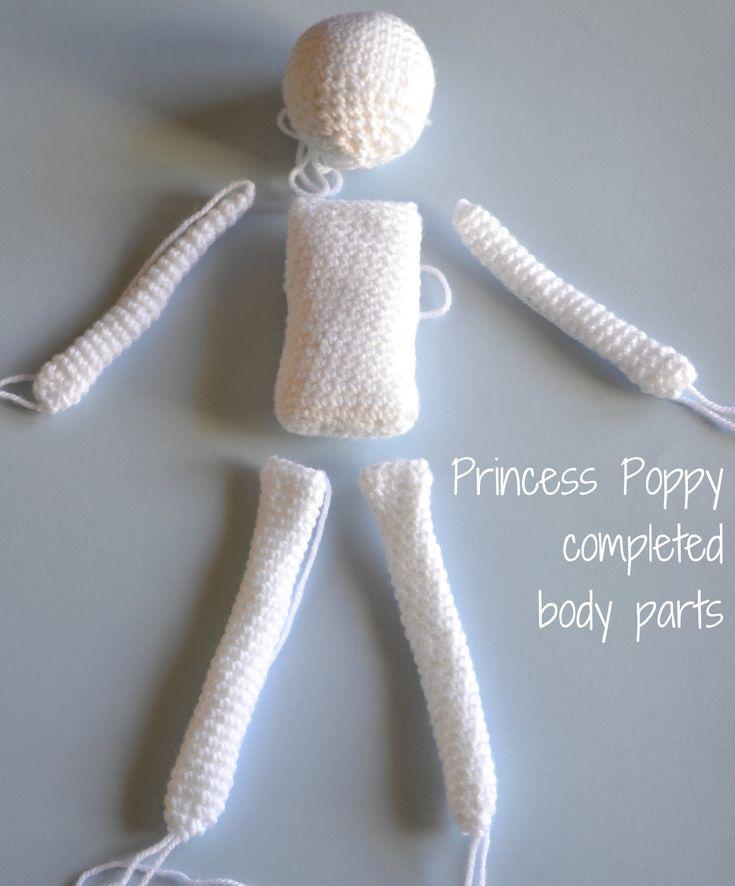 Crochet doll body parts