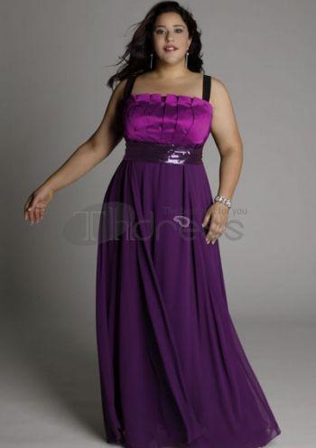 Plus Size Evening Dresses-plus size evening dress Estrella Gown in Hyacinth Violet