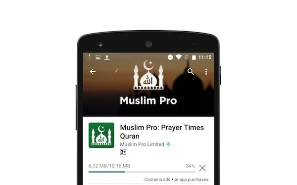 Muslim Pro App has had over 30 million app downloads on Apple store and Google Play, it is one of the most trusted Prayer timetable App around the World.