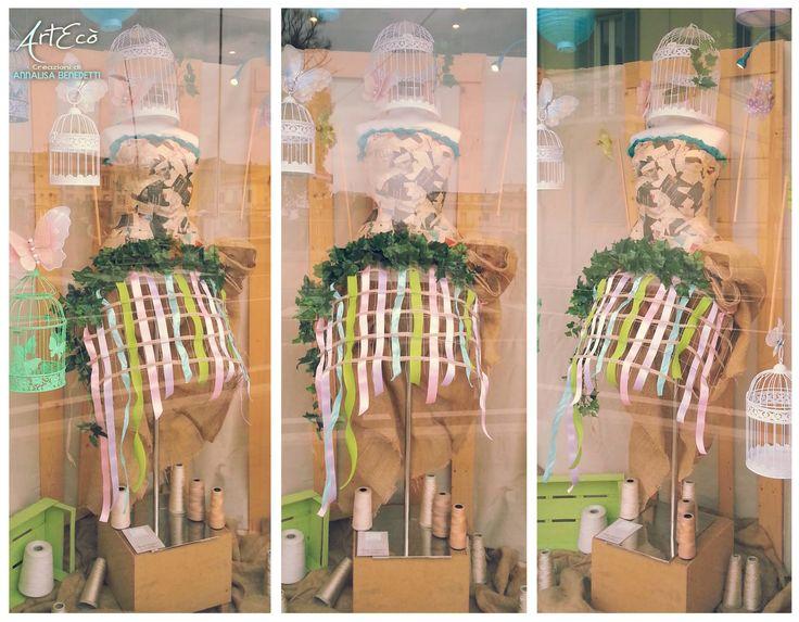 It's Springtime! - by ArtEcò Creazioni di Annalisa Benedetti CAGE CRINOLINE ART #artecocreazioni #annalisabenedetti #style #stylist #handmade #madeinitaly #cage #crinoline #panier #art #creative #fantasy  #cartapesta #colors #spring #costume #theater #photo