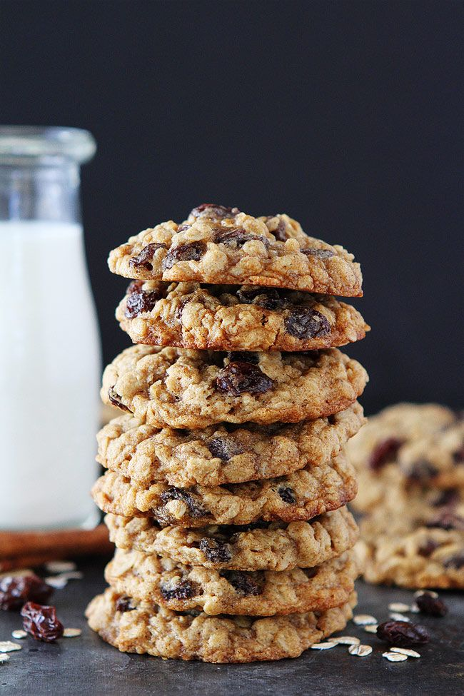 These soft and chewy oatmeal raisin cookies are a family-favorite! This classic cookie recipe is easy to make and goes great with a glass of milk. Seriously one of the best oatmeal raisin cookie recip