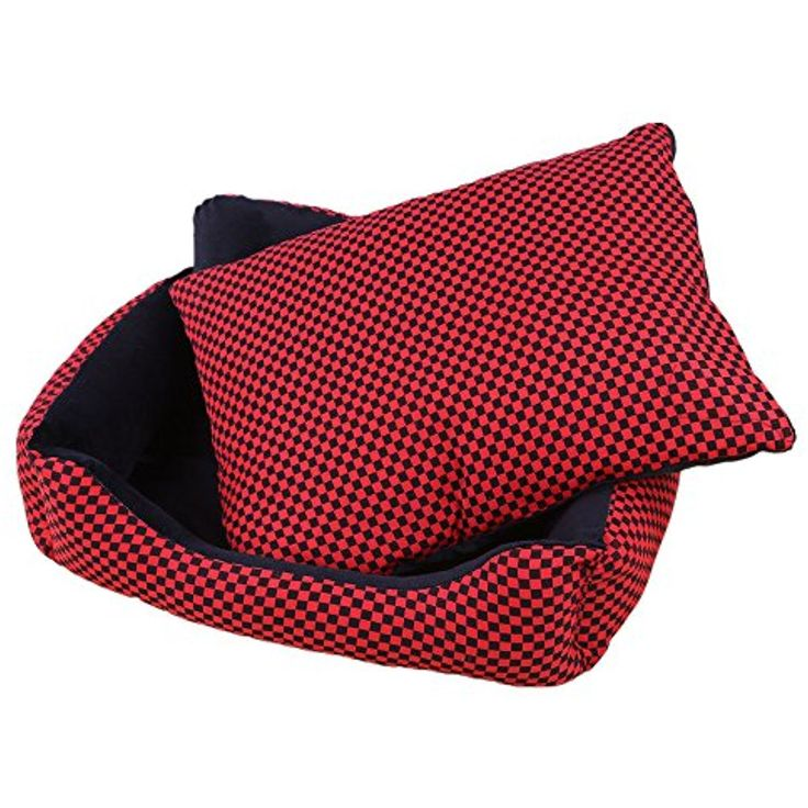 ZRUI Dog Sofa Mat House Kennel Bed Plaid Cushion Washable for Cat, Teddy,Bichon,Chihuahua,Corgi,cocker spaniel,Samoyed,Huskies,Golden Retriever,Alaskan,Labrador,etc (XL, Red) ~ Please be sure to check out this awesome product. (This is an affiliate link and I receive a commission for the sales)