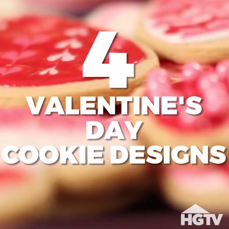 4 Valentine's Day Cookie Designs