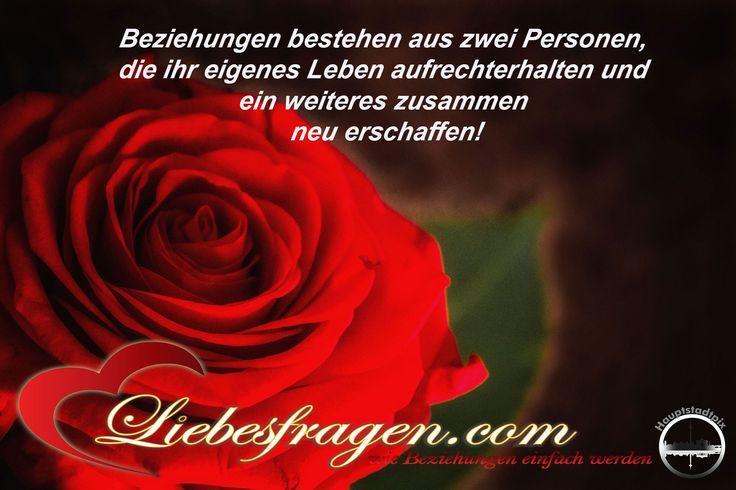 Beziehungen bestehen aus zwei Personen, die ihr eigenes Leben aufrechterhalten und ein weiteres zusammen neu erschaffen! http://liebesfragen.com/gratis