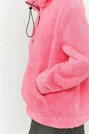 Sparkle & Fade - Sweat à capuche à enfiler en polaire rose - Urban Outfitters