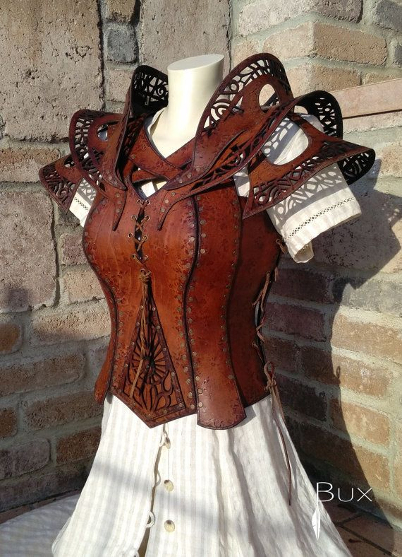 Female leather armor by BuxLeatherArt on Etsy