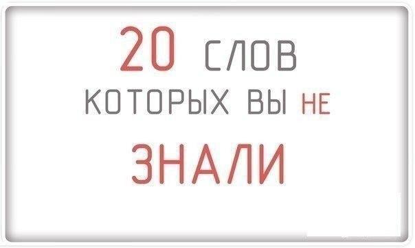 """""""20 слов ,которых вы не знали!! - Интересное и необычное"""