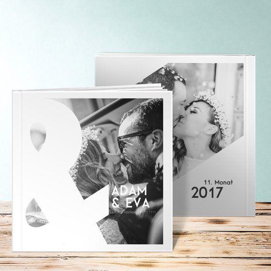 Du & ich Hochzeit Fotobuch. Vielfältige Seitenvorlagen. Ein Fotobuch hält die Erinnerung an den großen Tag lebhaft fest.