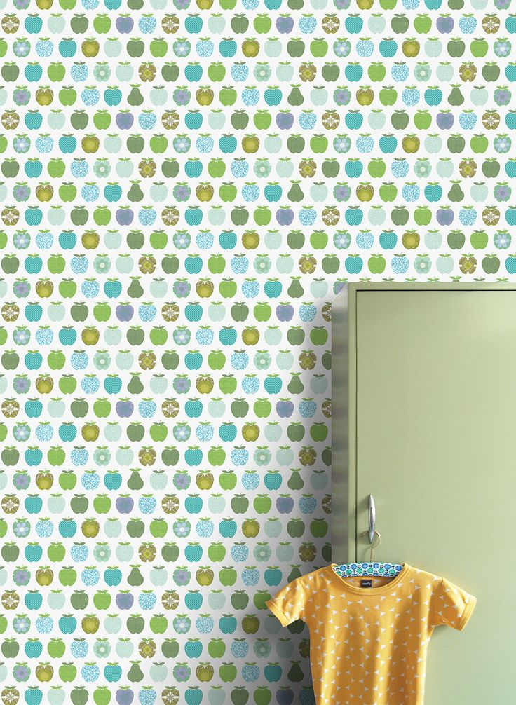 Wall Print collection by INKE IK2040 (appels blauw)