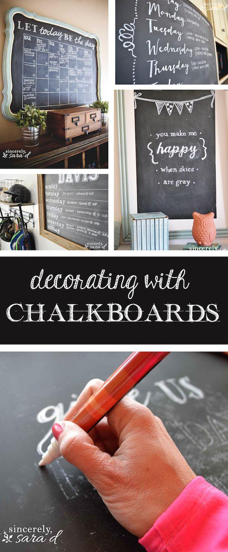 DECORating with Chalkboards 154 best Chalkboard Craze