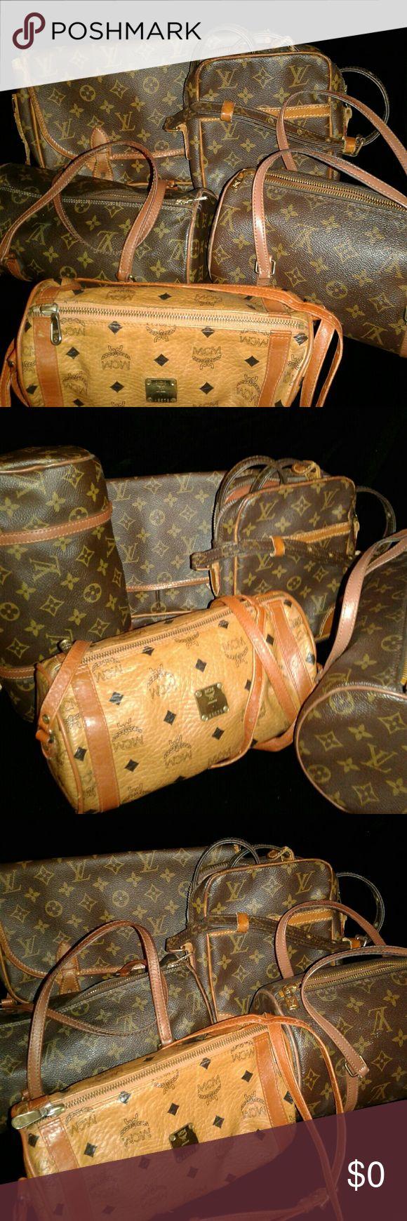 Authentic vintage LOUIS VUITTON AND MCM BAG Authentic vintage LOUIS VUITTON AND MCM BAG!! MCM  Bags