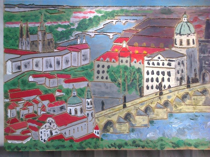3 dominanty v jednom:Hradčany, kostel Sv. Mikulaše a Karlův most, Jirouš