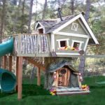 Treehouse With Swing And Slide