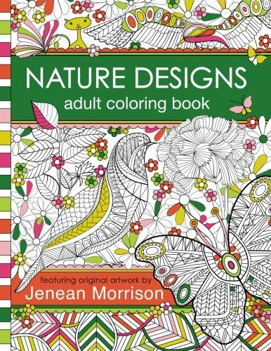 Nature Designs Adult Coloring Book 50 Pages Featuring Butterflies