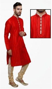 Red Color Art Silk Party Wear Readymade Men Churidar Kurta | FH554982864 Follow us @heenastyle  #menethnicwear #kurtapyjama #diwalidhamaka #menwear #ethnicwear #menethnicwear #kurta #menkurta #menkurtapyjama #Sherwani #indiankurtapyjama #instalike #instalove #follow4follow. #bhaiKiShaad #shervani #tradional #lucknow #selfiee #throwback #marriage #shervani #manyavar #heenastyle #menskurtapajama #menchuridarkurta