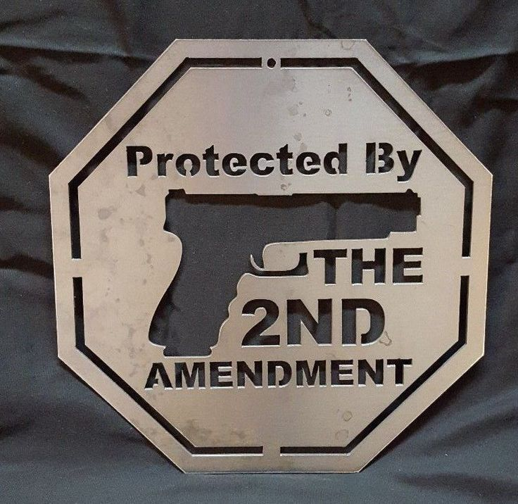 Protected by the 2nd Amendment  Metal Sign Gun Ammo Security Man Cave Warning #Handmade #Warning