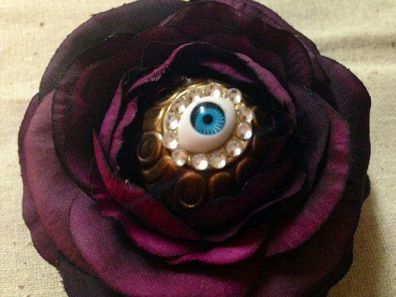 Eye Flower Hair Clip on Etsy, $8.00
