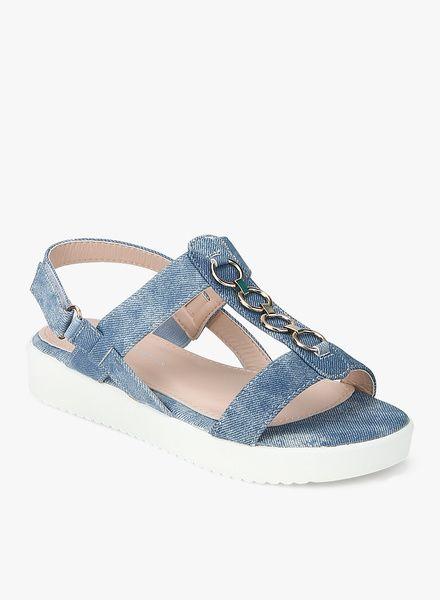Navy Blue Polyurethane Sandals  #Sandals #navyBlue #Polyurethane