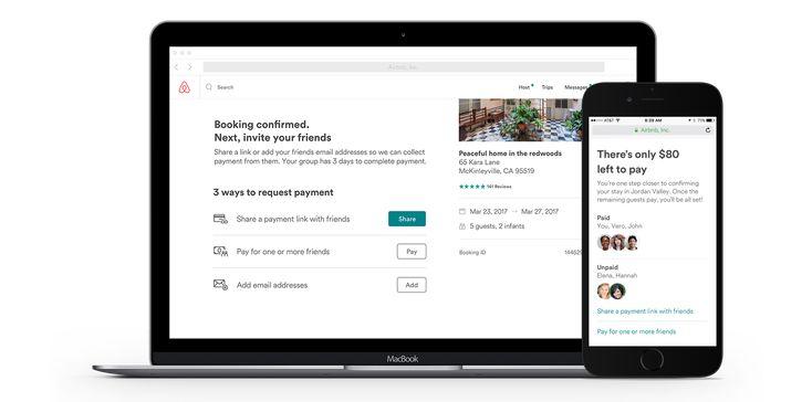 Airbnb. Bill splitting