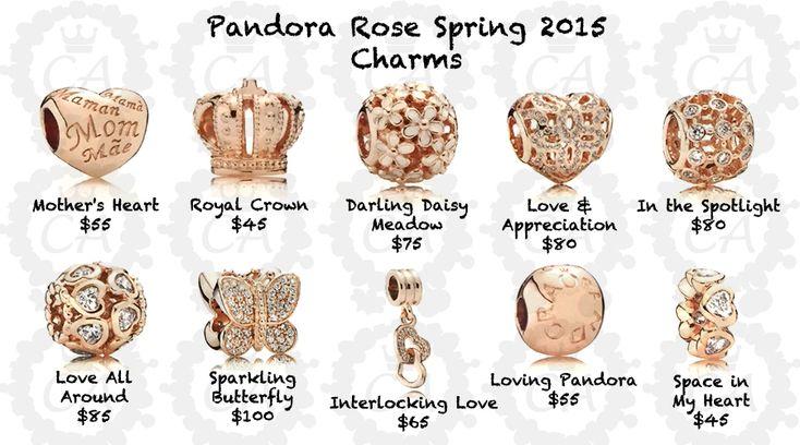 pandora rosegold charms