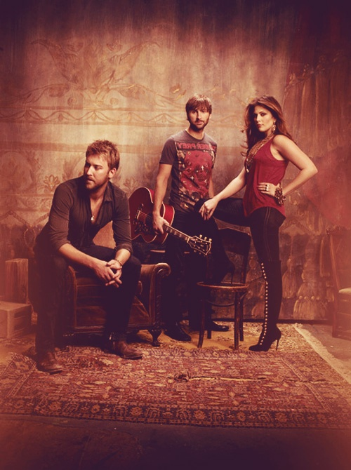 Lady Antebellum I love her boots love their music more but great pic