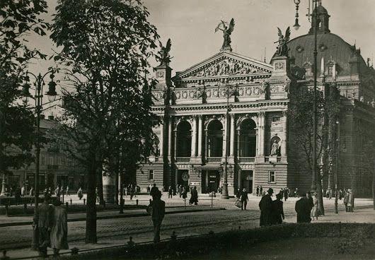 Grand Theater in Lviv, 1938