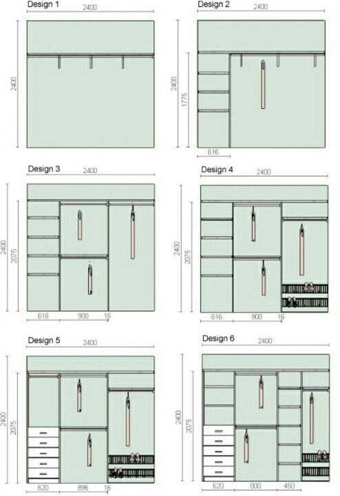 Dimens es para closet e guarda roupa planejado dicas interior pinterest design closet Master bedroom closet design plans