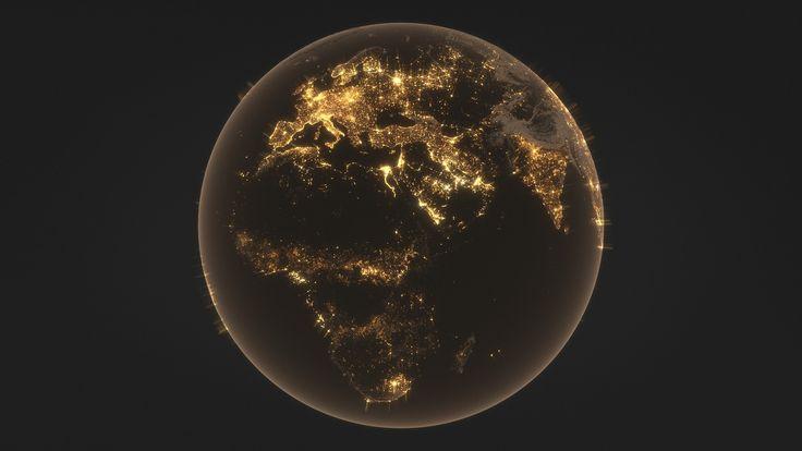 86k Earth Nightlights Map, Tuomas Kankola on ArtStation at https://www.artstation.com/artwork/4k6Wn
