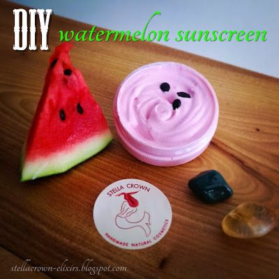diy watermelon & green tea sunscreen  #diyideas #diycosmetics #sunscreen #summer #sunprotection #sunscreencare #highprotection #nontoxic #handmade #summerishere #watermelon #greentea #naturalcosmetics #greenbeauty #beauty_elixirs #beauty_news #recipeideas #recipeblog #recipeshare #followme #φυσικά_καλλυντικά #stella_crown