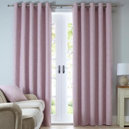Dunelm Pink Boucle Eyelet Curtains