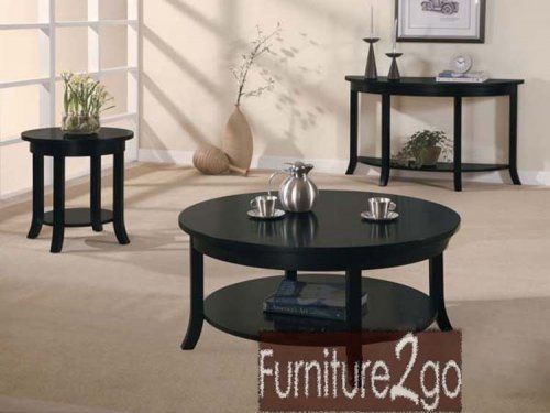 A08000 Gardena Black Coffee And End Tables Set