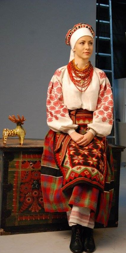 Tradicional traje de Ucrania.