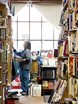 Who cares about skiing when there's a bookstore like this? Brattleboro Books in Brattleboro, Vermont