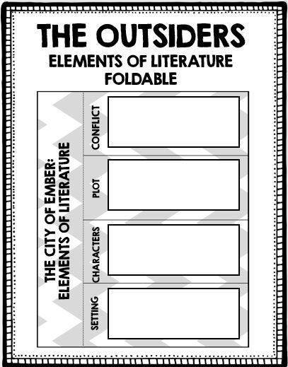 best outsiders images teaching reading middle the outsiders elements of literature foldable