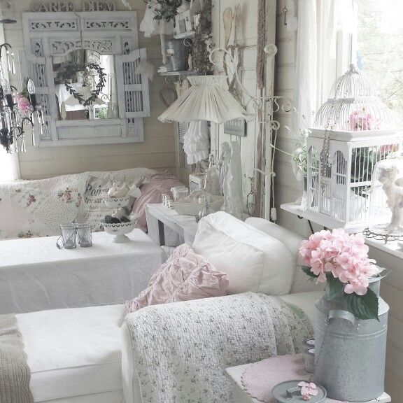 My living room #shabbychic #romantic #pastelhome