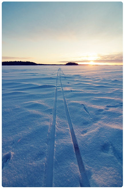 Winter in Tampere, Finland.