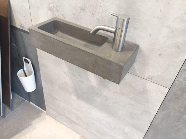 Wastafel toilet fonteinset oskar beton with wastafel toilet