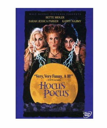 Hocus Pocus | Kids who have recently moved to the historical town of Salem team up with an immortal cat in this PG-rated film. The group tries to steal a book of spells from evil witches (played with silliness by Bette Midler, Sarah Jessica Parker, and Kathy Najimy) who are accidentally resurrected after 300 years.