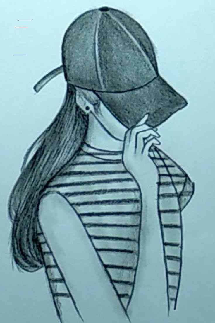 Pencil Sketching A Dashing Girl Pencil Drawing Easy In 2020