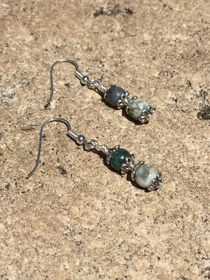 Tree Agate crystal gemstone healing earrings.  www.divineaura.com.au and join our Facebook family @ www.facebook.com/divineaura123 *****SOLD OUT*****