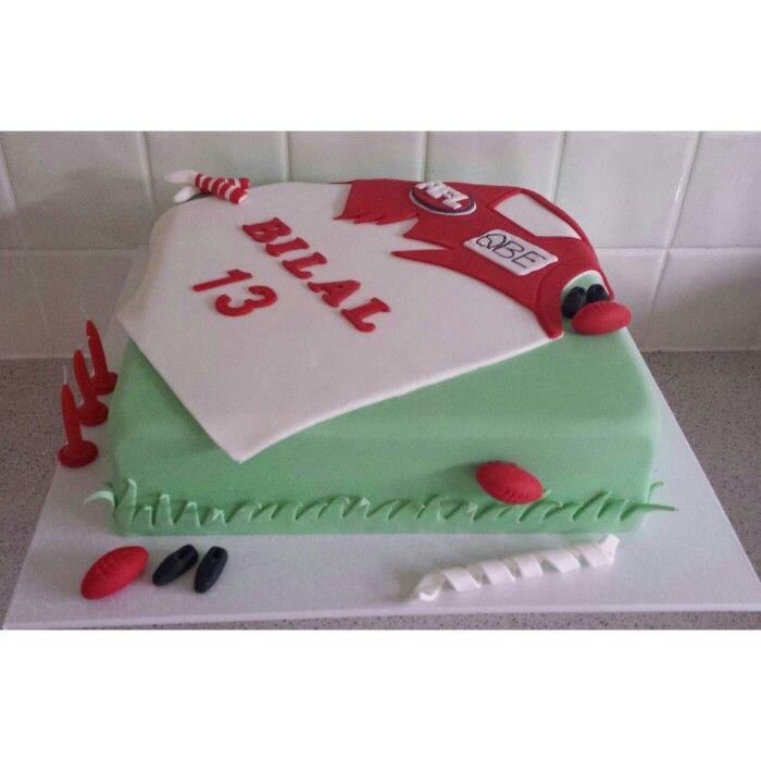 Sydney swans football team cake