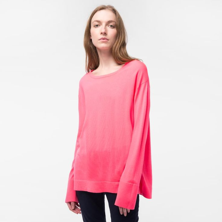 Image result for paul smith pink jumper button back