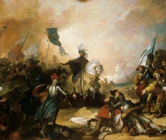 Bataille de Marignan, 14 septembre 1515. Peinture d'Alexandre-Evariste Fragonard. 1515 : la bataille de Marignan comme si vous y étiez. Histoire de France. Patrimoine. Magazine