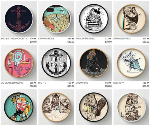 Ilustraciones de alejandro giraldo decoraci n pinterest relojes de pared reloj y aquelarre - Relojes de decoracion ...